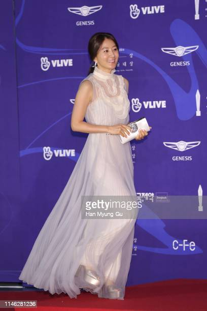 South Korean actress Kim Hee-Ae attends the 55th Baeksang Arts Awards at COEX D Hall on May 01, 2019 in Seoul, South Korea.