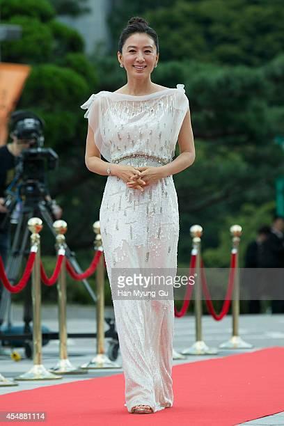 South Korean actress Kim HeeAe attends the Seoul International Drama Awards 2014 on September 4 2014 in Seoul South Korea