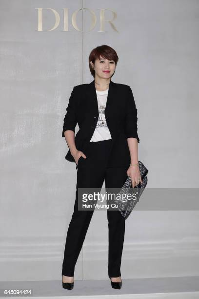 South Korean actress Kim HyeSoo attends the photocall for Dior 2017 S/S Collection at Shinsegae Department Store on February 24 2017 in Seoul South...