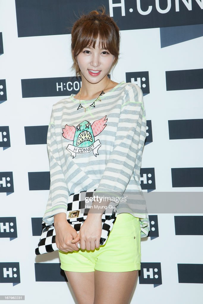 South Korean actress Kim Jung-Min attends a promotional event for the 'H:Connect' Gangnam Flagship Store Opening on May 3, 2013 in Seoul, South Korea.