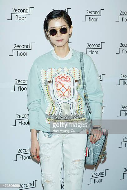 """South Korean actress Kim Na-Young attends """"2nd Floor"""" store opening at Sinsegae Department Store on March 14, 2014 in Seoul, South Korea."""