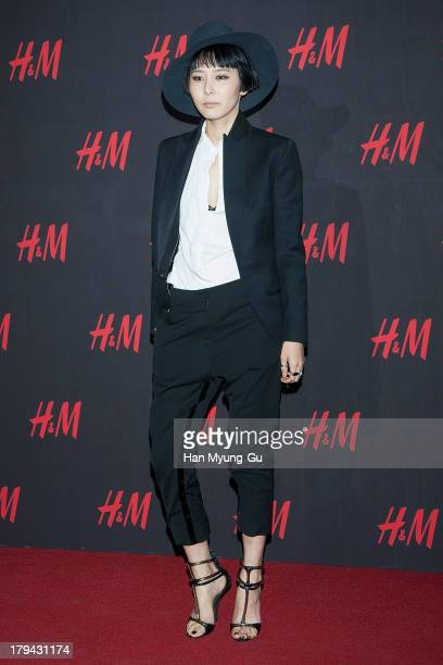 South Korean actress Kim Na-Young attends during the H&M Autumn Collection Pre-Shopping Party at H&M Gangnam Store on September 3, 2013 in Seoul,...