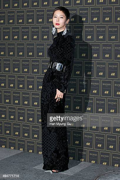 South Korean actress Kim Na-Young attends the BALMAIN x H&M Preview Party at Club The A on October 28, 2015 in Seoul, South Korea.