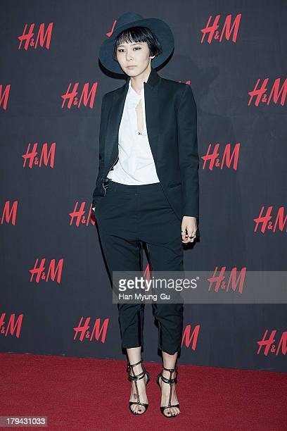 South Korean actress Kim Na-Young attends the H&M Autumn Collection Pre-Shopping Party at H&M Gangnam Store on September 3, 2013 in Seoul, South...