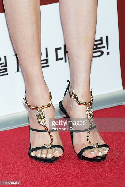 South Korean actress Kim SaRang attends the VIP screening for a film Obsessed at COEX Mega Box on May 12 2014 in Seoul South Korea The film will open...
