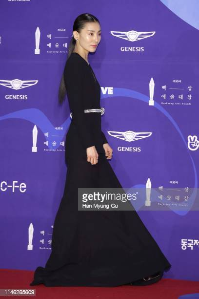 South Korean actress Kim SeoHyung attends the 55th Baeksang Arts Awards at COEX D Hall on May 01 2019 in Seoul South Korea