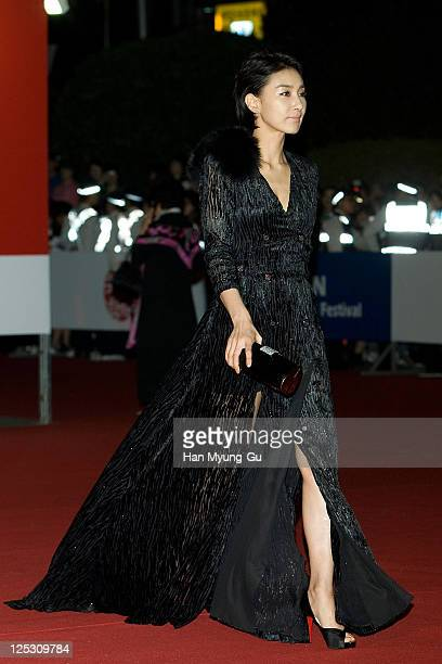 South Korean actress Kim SeoHyung attends the opening ceremony of the 15th Pusan International Film Festival