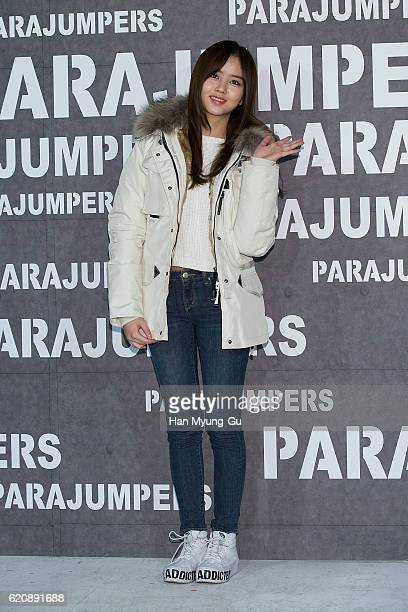 South Korean actress Kim SoHyun attends the photocall for 'PARAJUMPERS' on November 3 2016 in Seoul South Korea