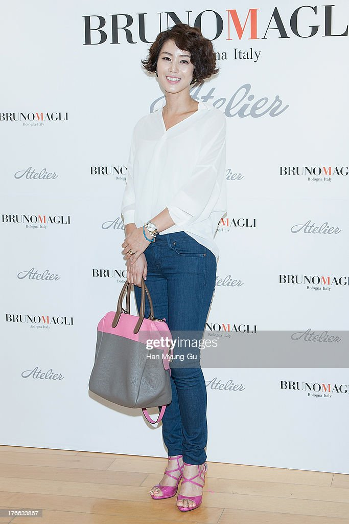 South Korean actress Kim Sung-Ryung attends during the 'Bruno Magli' atelier store grand opening in Seoul on August 16, 2013 in Seoul, South Korea.