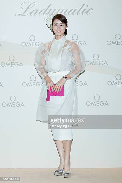 South Korean actress Kim SungRyung attends Omega Ladymatic Launch Party at Shilla Hotel on December 5 2013 in Seoul South Korea