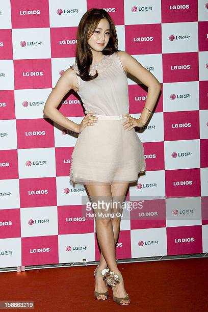 South Korean actress Kim TaeHee attends during an autograph session for 'LG Electronics' Bestshop Gangnam Store Opening at LG Bestshop Gangnam Store...