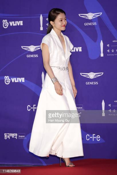South Korean actress Ko AhSung aka Ko ASung attends the 55th Baeksang Arts Awards at COEX D Hall on May 01 2019 in Seoul South Korea
