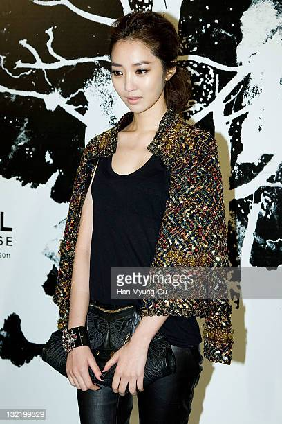South Korean actress Koh JunHee arrives for the 2011/12 Cruse Collection by Chanel at AXKorea on November 10 2011 in Seoul South Korea Models...