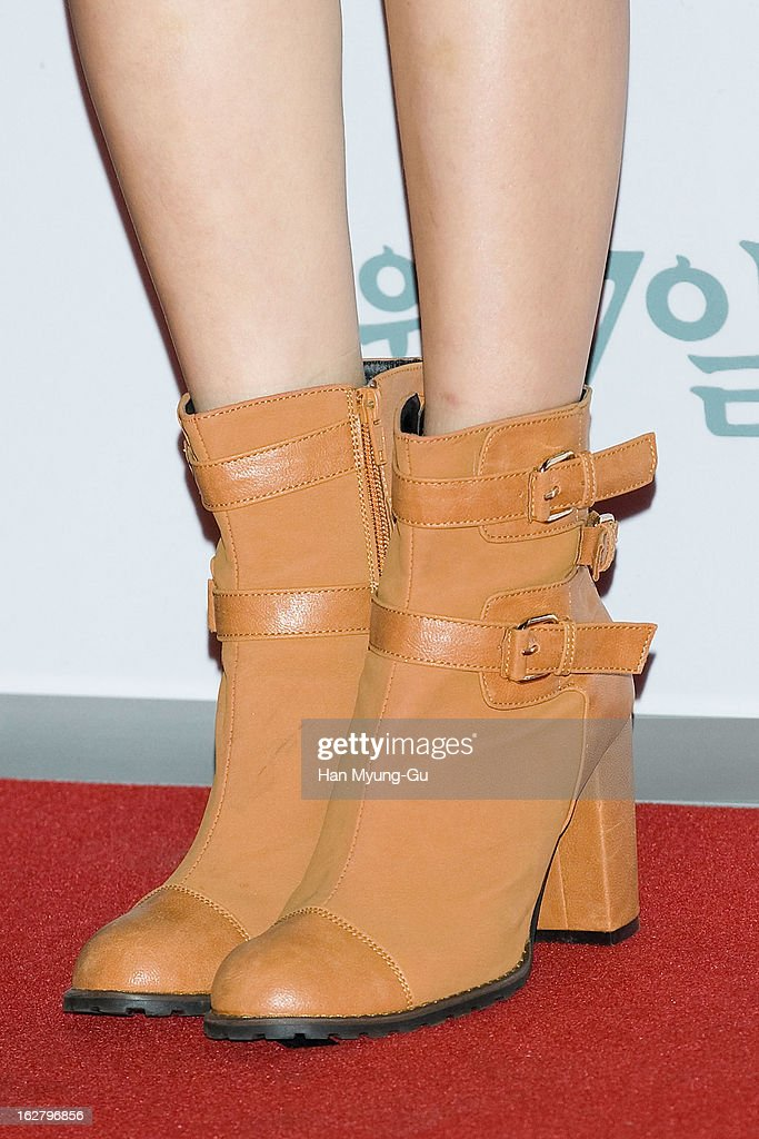 South Korean actress Lee Chung-Ah (shoe detail) attends the 'Psychometry' VIP Screening at CGV on February 26, 2013 in Seoul, South Korea. The film will open on March 07 in South Korea.