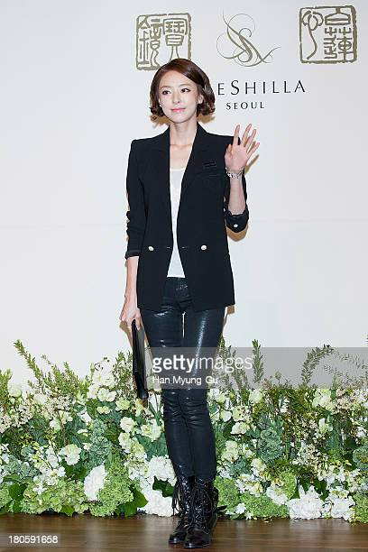 South Korean actress Lee DaHee attends the wedding of Bae SooBin at The Shilla Hotel on September 14 2013 in Seoul South Korea