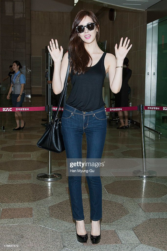 South Korean actress Lee Da-Hey is seen on departure at Gimpo International Airport on August 5, 2013 in Seoul, South Korea.