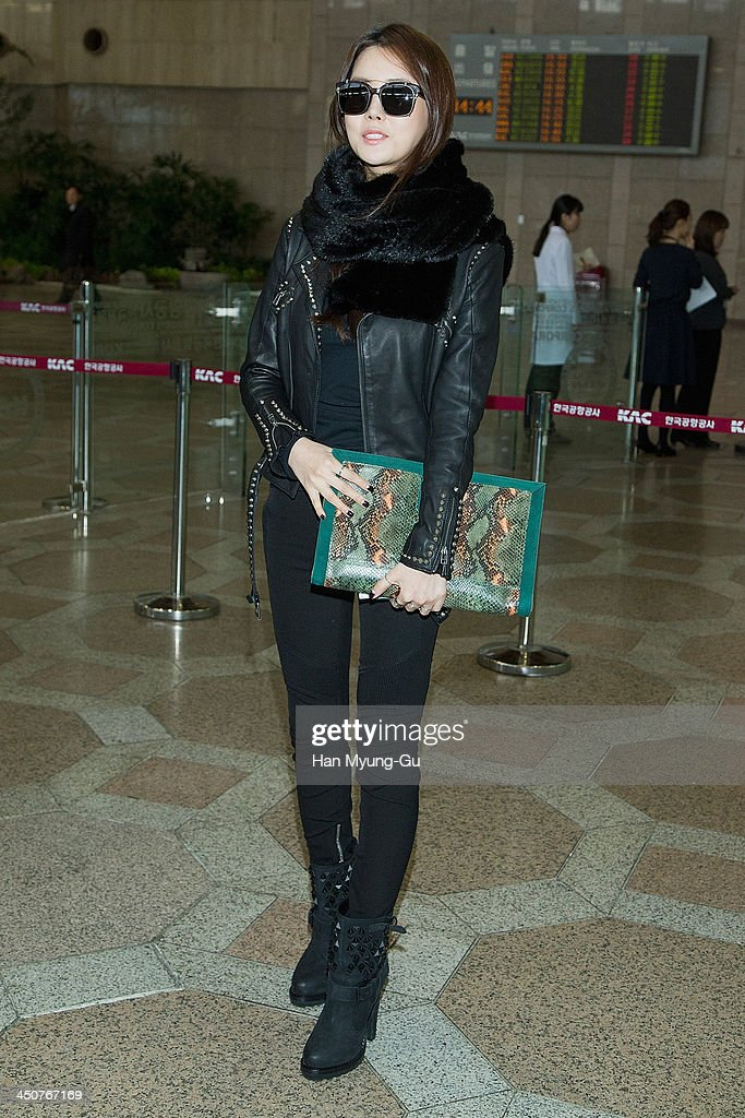 celebrity sighting at gimpo airport photos and images getty images