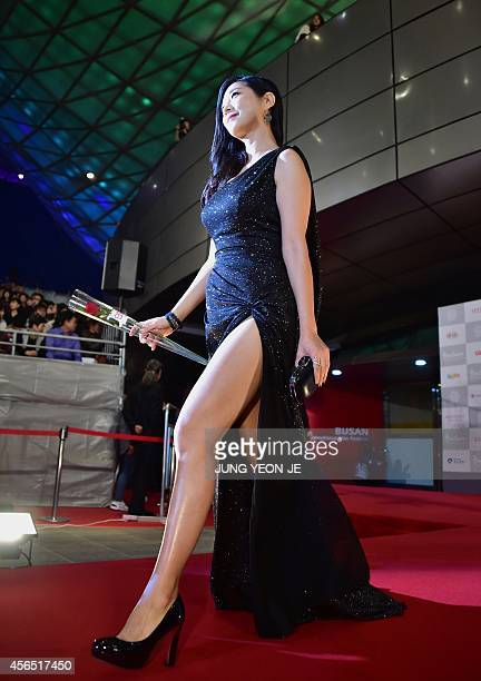 South Korean actress Lee EunHo of Kabuki Lovehotel walks on the red carpet for the opening ceremony of the 19th Busan International Film Festival at...