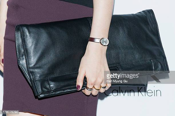 South Korean actress Lee Ha-Nee attends during the Calvin Klein 2013 F/W Live Model Presentation at ck Calvin Klein Gangnam Store on August 28, 2013...