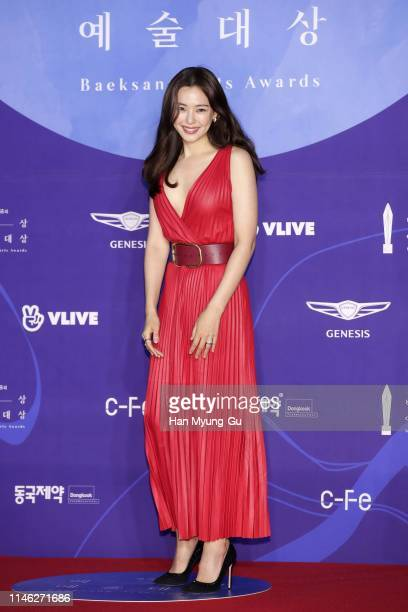 South Korean actress Lee HaNee attends the 55th Baeksang Arts Awards at COEX D Hall on May 01 2019 in Seoul South Korea