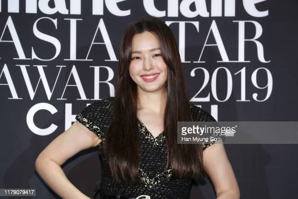 South Korean actress Lee Ha-Nee attends the Marie Claire 2019 Asia Star Awards on October 04, 2019 in Busan, South Korea.