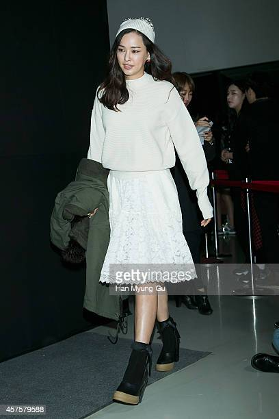 South Korean actress Lee HaNee poses for photographs at the Steve J and Yoni P show as part of Seoul Fashion Week S/S 2015 at DDP on October 20 2014...