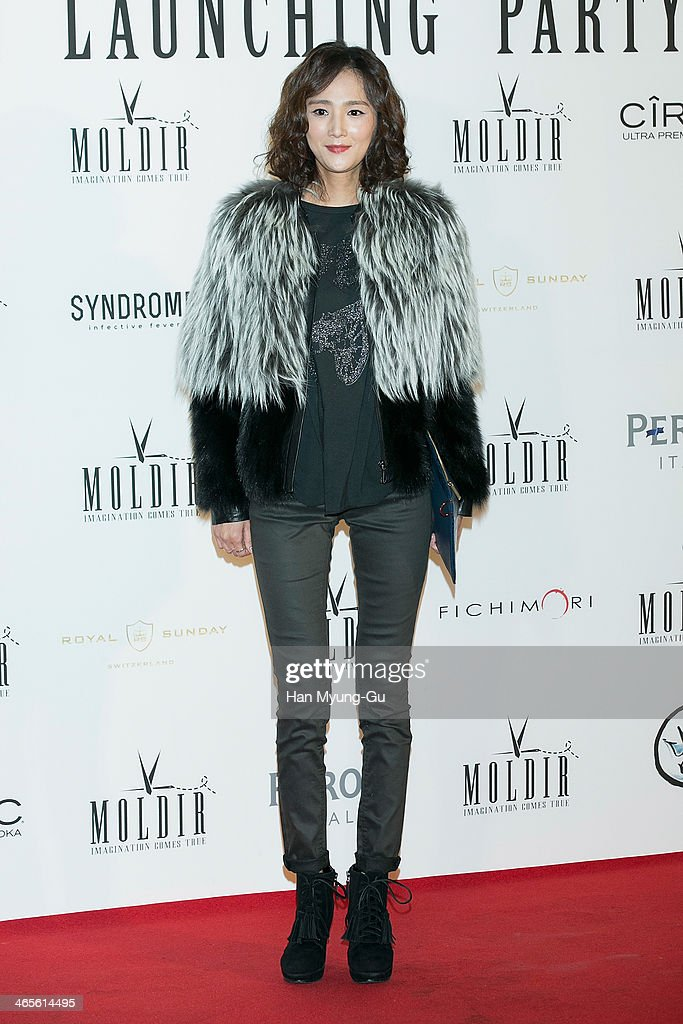 South Korean actress Lee Hee-Jin attends the Moldir Launching Party on January 24, 2014 in Seoul, South Korea.