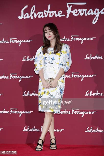 South Korean actress Lee MinJung attends the photocall for 'Salvatore Ferragamo' Paul Andrew line launch event at The Shilla Hotel on March 30 2017...