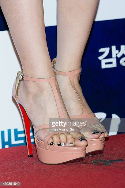 South Korean actress Lee SaeYoung attends 'High Heel' VIP Screening at Lotte Cinema on June 2 2014 in Seoul South Korea The film will open on June 04...