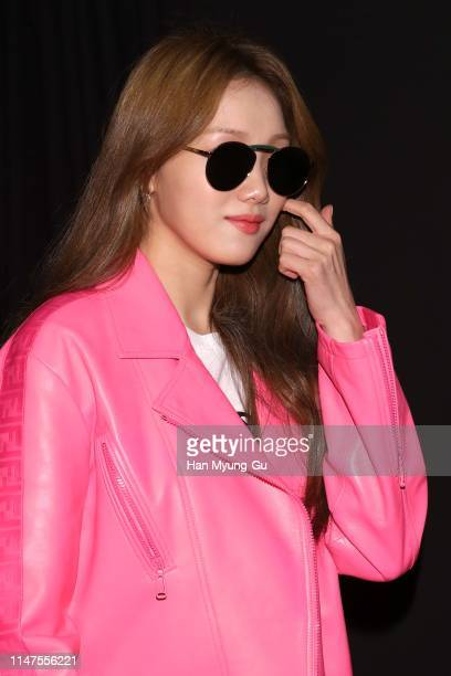 South Korean actress Lee SungKyung attends the photocall for GENTLE MONSTER X FENDI Collaboration 'Gentle Fendi' collection on May 07 2019 in Seoul...