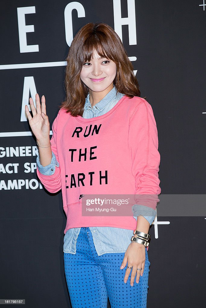 South Korean actress Lee Young-Eun attends a promotional event for the NIKE 'Tech Pack' Showcase at Shilla Hotel on September 24, 2013 in Seoul, South Korea.