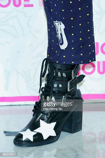 South Korean actress Lee YoungJin attends the 'Lucky Chouette' Lucky Style 2014 F/W Collection at the Grand Hyatt Hotel on March 24 in Seoul South...