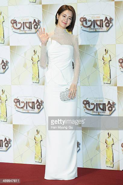 South Korean actress Lee YoWon attends the 2013 SBS Drama Awards at SBS on December 31 2013 in Seoul South Korea