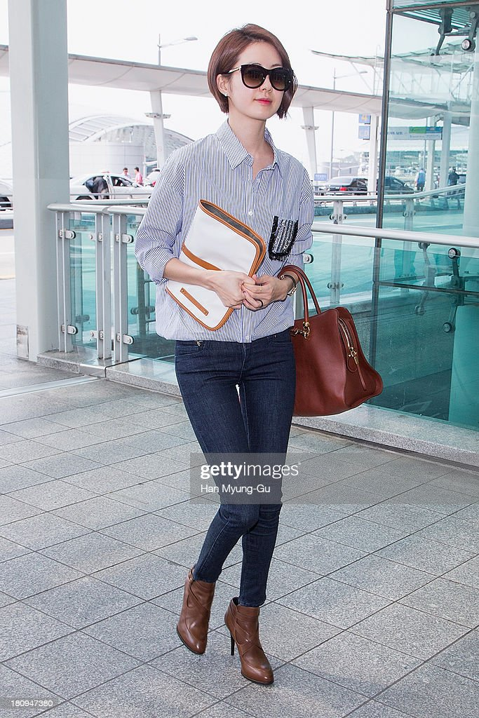 South Korean actress Lee Yo-Won is seen on departure at Incheon International Airport on September 18, 2013 in Incheon, South Korea.