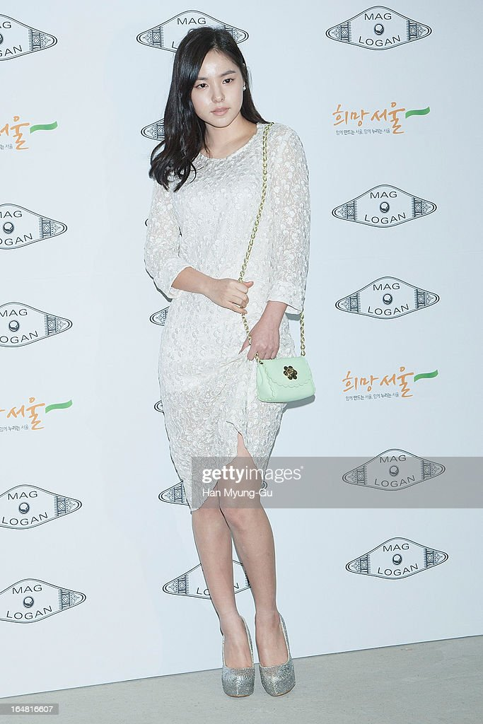 South Korean actress Min Hyo-Rin attends during at the 'MAG AND LOGAN' show on day four of the Seoul Fashion Week F/W 2013 at IFC Seoul on March 28, 2013 in Seoul, South Korea.