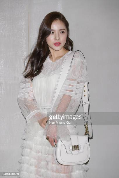 South Korean actress Min Hyo-Rin attends the photocall for Dior 2017 S/S Collection at Shinsegae Department Store on February 24, 2017 in Seoul,...