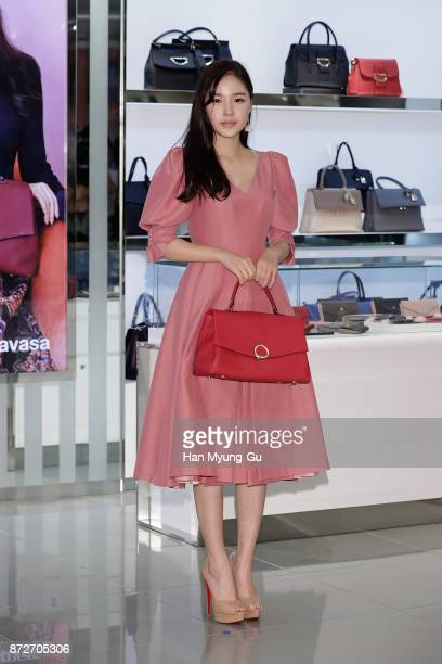 South Korean actress Min HyoRin attends the 'Samantha Thavasa' Launch on November 10 2017 in Seoul South Korea