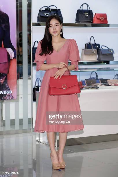 "South Korean actress Min Hyo-Rin attends the ""Samantha Thavasa"" Launch on November 10, 2017 in Seoul, South Korea."