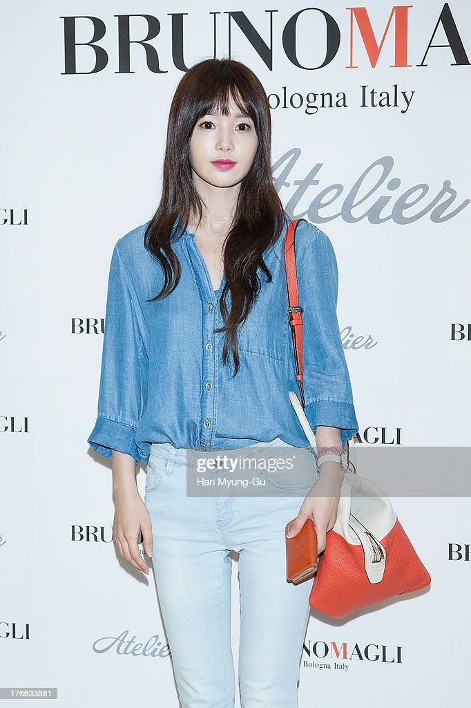 South Korean actress Nam Gyu-Ri attends during the 'Bruno Magli' atelier store grand opening in Seoul on August 16, 2013 in Seoul, South Korea.
