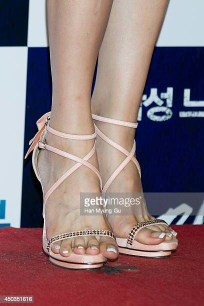 South Korean actress Oh HyunKyung attends 'High Heel' VIP Screening at Lotte Cinema on June 2 2014 in Seoul South Korea The film will open on June 04...