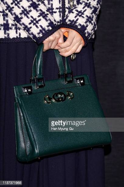 South Korean actress Oh NaRa bag detail attends the Photocall for Gucci 'Zumi' launch on March 21 2019 in Seoul South Korea