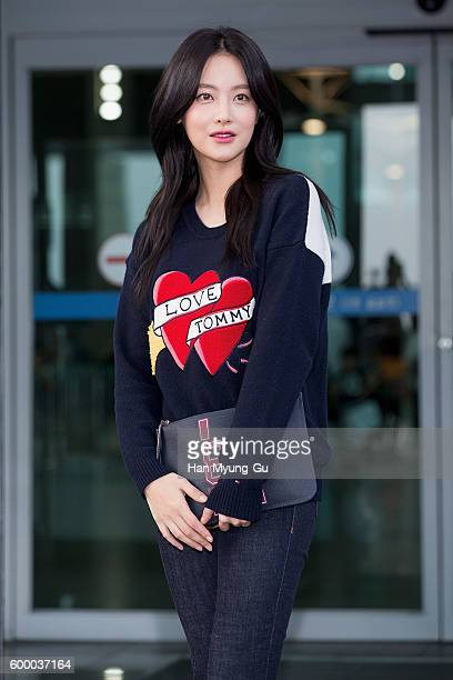 South Korean actress Oh YeonSeo is seen on departure at Incheon International Airport on September 7 2016 in Incheon South Korea