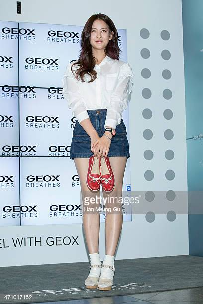 South Korean actress Oh YeonSeo shoe detail attends the Travel With  GEOX   at Lotte a6bc473e214a