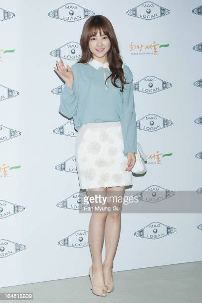 South Korean actress Park BoYoung attends during at the 'MAG AND LOGAN' show on day four of the Seoul Fashion Week F/W 2013 at IFC Seoul on March 28...