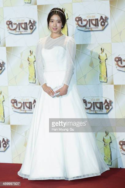 South Korean actress Park ShinHye attends the 2013 SBS Drama Awards at SBS on December 31 2013 in Seoul South Korea