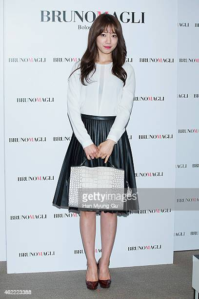 South Korean actress Park ShinHye attends the autograph session for Bruno Magli at Shinsegae Department Store on January 25 2015 in Busan South Korea