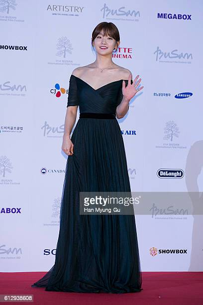 South Korean actress Park SoDam attends the opening of the 21st Busan International Film Festival on October 6 2016 in Busan South Korea