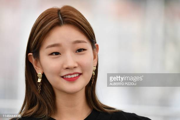 South Korean actress Park Sodam poses during a photocall for the film Parasite at the 72nd edition of the Cannes Film Festival in Cannes southern...
