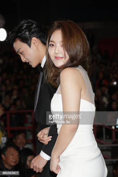 South Korean actress Seo ShinAe attends the Opening Ceremony of the 22nd Busan International Film Festival on October 12 2017 in Busan South Korea