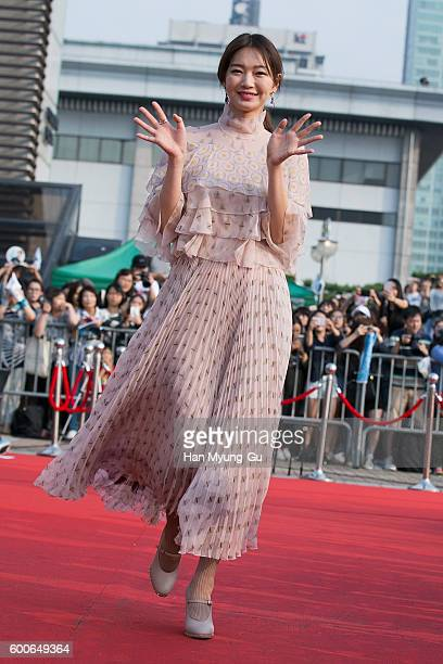 South Korean actress Shin Min-A attends the photocall for Seoul International Drama Awards 2016 at the KBS on September 8, 2016 in Seoul, South Korea.